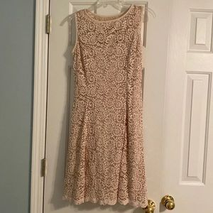Lacy sequin knee length dress